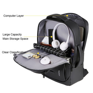 2019 NEW Laptop Backpack Mens Мужского рюкзак Ноутбук Mochila Водонепроницаемая Back Pack USB зарядные Сумки для путешествий Bagpack