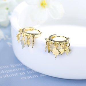 Earrings Jewelry Hoop Gold 925 Sterling Silver New Korea Geometric For Women Style Size 2020 new