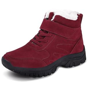 Popular Slip Shoes Male Casual Plus Velvet Winter Warm Short Ankle Boots Mens New Plush Couple Low-top Snow Sneaker Botas Pareja