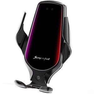 R3 Smart Sensor Автомобильных беспроводной зарядки Держатель 10Вт Быстрое беспроводное зарядное устройство для iPhone Samsung Huawei Xiaomi