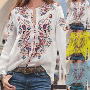 autumn collar collar printed chiffon shirt loose large size shirt bottoming shirt long sleeve lace wild