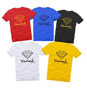 La fornitura di diamanti Co Uomo stampato casual manica corta all'aperto t shirt a buon mercato maschio top tees t-shirt moda bianco rosso blu giallo grigio