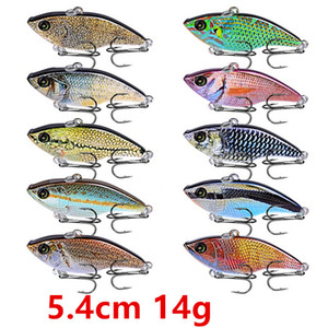 10 Color 5.4cm 14g VIB Fishing Hooks Fishhooks 8# Hook Fishing Lure Hard Baits & Lures Pesca Fishing Tackle Accessories FS_32