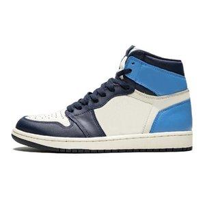 Plus récent venant Cdg X 1 Collab Boucle sangles Tirez Bague Hommes Femmes Chaussures de basket-1S Jumpman Des Garcons Sport Sneakers # QA632