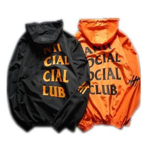 Бренд мужская куртка пальто солнцезащитный крем повседневная мужская одежда куртки топы с буквенным печатным отворотом с капюшоном черная ветровка уличная одежда S-XXL