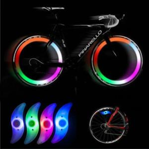 2018 Nuevo ciclo de la bici habló alambre Neumático Neumático LED lámpara brillante de la bicicleta Wheel Spokes Lights # NE822