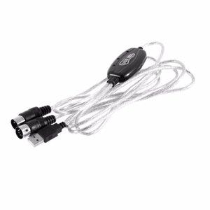 2M العليا USB ذكر إلى MIDI ذكر IN-OUT USB MIDI واجهة كابل محول PC إلى الموسيقى محول لوحة المفاتيح الحبل لتحرير برنامج MUSIC YAMAHA