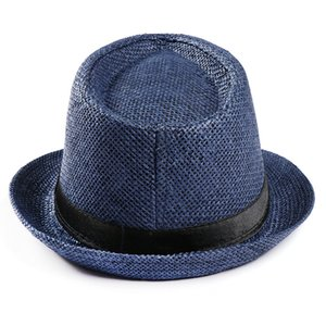 hatTrendy Beach Sun Straw Panama-Jazz-Hut Cowboy Fedorahüte Gangster Cap chapeau Sommer Stroh Mens weibliche Hut Sonnenhut Frau