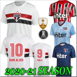 2020 Sao Paulo Daniel Alves magliette di calcio ANTONIO PABLO PATO Maglia calcio adulto camisa Sao paulo Feminina 20/21 Portiere uniforme