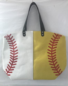 Canvas Bag Baseball Tote Sports Bags Casual Softball Bag Football Soccer Basketball Cotton Canvas Tote Bag DC166