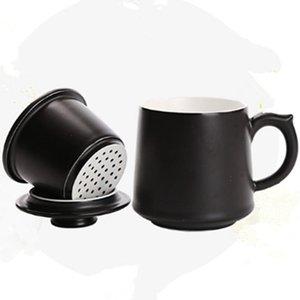 Tasse À Thé En Céramique Avec Tasse À Café Japonaise Créative De Couleur Noir Et Blanc Créatif Tasse À Thé Individuelle En Porcelaine