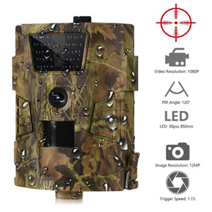LEDs infravermelhos da câmera HD HT-001B Trail 12MP 1080P 30pcs 850nm Hunting IP54 Waterproof 120 graus selvagem Angle