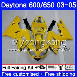 Carrosserie pour triomphe Daytona600 Daytona 650 600 02 03 04 05 321hm.0 Daytona650 Daytona 600 2003 2004 2004 Kit de carénage 2005 Usine jaune