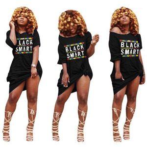 Casual Dress Spring Summer Loose Straight Dress Female Vestidoes Black Smart Women