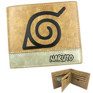 Konoha wallet Naruto good badge note purse Patchwork short leather cash note case Money notecase Change burse bag Card holders