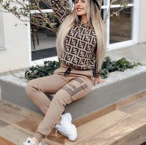 Marca FDDesign mulheres 2 pedaço definido corredor designers de treino bordado Hoodie leggings roupas camisola calças sportswear bodycon pant swe