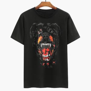 T shirt Vendita calda stampato Rottweiler Dog capo jersey di cotone effetto vintage T-shirt per Uomo Fashion Design Via xshfbcl Uomo manica lunga