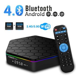 T95Z Além disso Amlogic S912 TV Box 2GB + 16GB Octa-core dual Wifi 2.4G + 5G BT4.0 H.265 Android 7.1 Smart TV Box