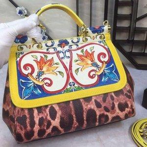 Designer-New Fräulein Sizilien Real Kuhfell Color Printing Graffiti Mode Damenhandtaschen mit Einzel-Schulter Slant