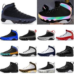Nike air retro jordan 9 Racer Caméléon Bleu 9 9s Hommes Basketball Chaussures de sport rouge 2010 RELEASE space jam Mop Melo OG entraîneurs des hommes de sport Chaussures de sport