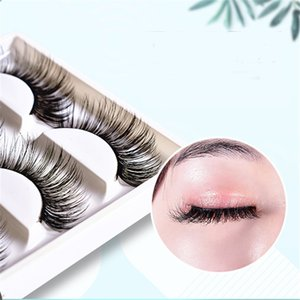 5 Pairs of 3D False Eyelashes To Make Thick Eyelashes with Three-dimensional Protein Filaments
