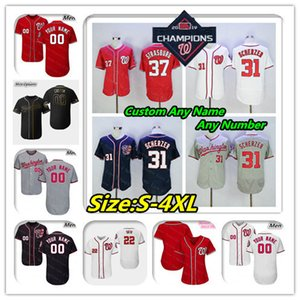 2019 Champions WS Nationals Jersey Juan Soto Max Scherzer Zimmerman Taylor Strasburg Corbin Gomes Doolittle Eaton Washington Women Youth
