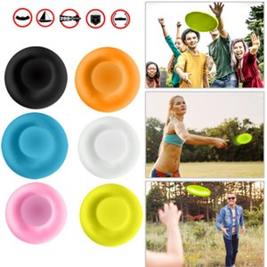 6 piece set parent-child interactive sports Mini Creative Frisbee circular silicone disc game Outdoor sports flying saucer Fingertip top toy