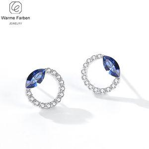 Warme Farben cristalina de los pendientes de 2020 nuevo de la manera personalidad brille con incrustaciones de circonio círculo cristalino del perno prisionero de regalo