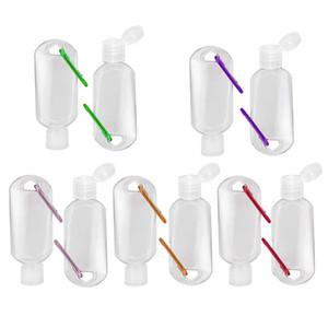 30ml / 50ml en plastique transparent Voyage Porte-bouteilles LeakProof conteneurs vides de squeeze Flip Cap TSA Approuvée