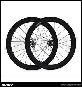 700c 60мм Неподвижный Механизм Трубчатые UD матовые Специальный Carbon Track Быстрая доставка доводом Wheels