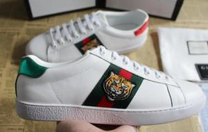 chaussures de sport pas cher concepteur de luxe de véritables chaussures hommes de sport en cuir chaussures de sport Ace Taille du tigre abeille 35-46 boîte orginal