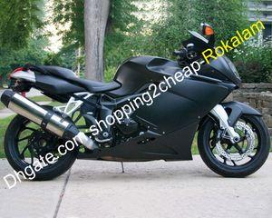 Para BMW K1200S K1200 S 2005 2006 2007 2008 K 1200S 05 06 07 08 Matte Black Carroçaria Motorcycle Conclua Fairing Set