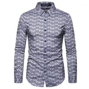 의류 3D 디지털 방식으로 인쇄 Mens 디자이너 셔츠 패션 슬림 물방울 무늬 인쇄 Mens 디자이너 셔츠 셔츠 남성