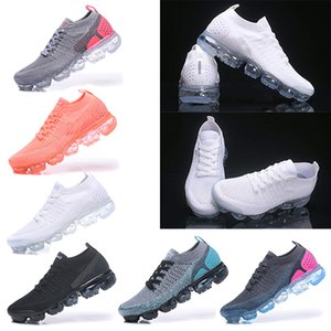 Nike Air VaporMax 2018 Flyknit 2.0 running Para Mujer Zapatillas de deporte Entrenadores Masculino Deportes Atlético Hot Corss Senderismo Correr Al aire libre Zapato Eur 36-40