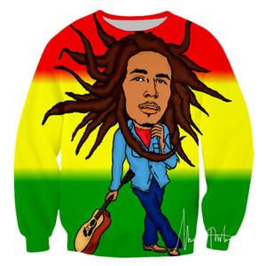 PLstar Cosmos Erkekler kazak 3D hoodies erkek Gömlek Harajuku Baskı Kaya Hip Hop Bob şarkıcı Marley Reggae Giyim streetwear-5