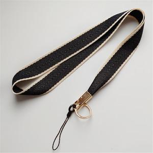 حزام الذهب لحالة الهاتف الهاتف المحمول حول الحبل الرقبة