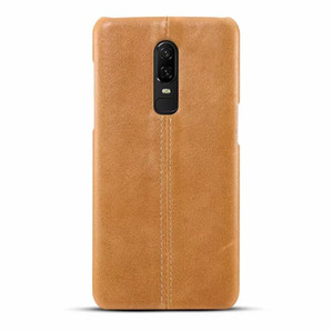 Custodia originale in pelle genuina ultra-sottile per cover posteriore originale di Oneplus 6 per iPhone 6 / 1plus 6