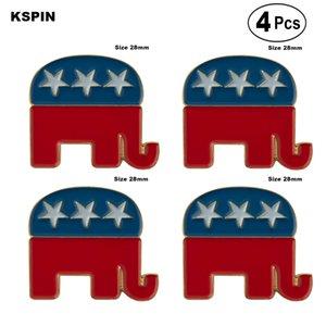 U. S. Um Elefante Broches de Lapela Pin Bandeira insígnia Broche de Pins, Emblemas 4PC