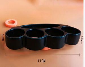 Latón estrenar cuatro dedos plumeros Multi-funcional herramienta de botellas nudillos táctico de la supervivencia de la autodefensa herramientas abridor EDC envío