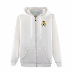 Erkekler Real Madrid 2019 Tam Zip Seyahat Ceket 2019 2020 Real Madrid Pamuk Triko futbol formaları Eğitim ceket eşofman Kapşonlu ceket