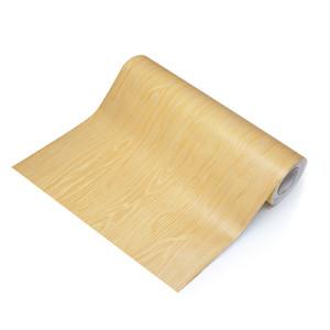 La alta calidad de grano imitación madera muebles de escritorio reformado madera puerta del armario de la cocina pegatinas 3D papel tapiz impermeable autoadhesiva