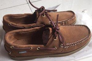 hombres al por mayor del ante de los mocasines top sider mens zapatos del barco de gamuza azul barco mocasines hechos a mano zapatos de cuero de zapatos casuales tamaño grande s6 CS07