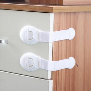 Großhandel aus Kunststoff weiß Kühlschrank Türschlösser Home Verwendung Kind Elastische Verriegelung Schutz Kinder Schublade Türen Sperren Kinder Sicherheit BH0919 TQQ