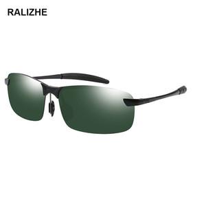 Alta Calidad Clásico Polarizado de Metal Gafas de sol Diseñador de la marca Hombres Mujeres Conducción Moda Vintage Negro Verde Deporte Goggle al aire libre Sun Glasse