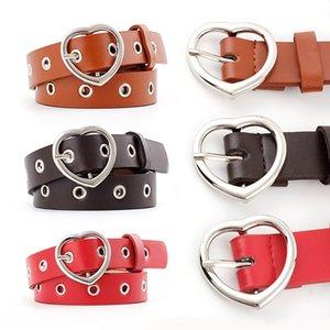 201 Pin 9 hundred-match pin buckle women's love buckle hollow decorative air-eye Belt Women's thin trousers belt