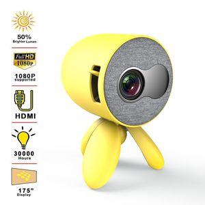 YG220 HD Mini Projecteur Portable prend en charge le téléphone portable avec le même écran 1080p HD HDMI PROJECTEUR Video Player Video Player cadeau enfants