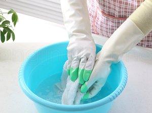 Dish Washing Handschuhe Latex-Gummi wasserdichte dünne Reinigung Handschuhe für Haushalt Küche Reinigungsmittel für Anti-Rutsch-Reinigung Handschuhe FFA3981-5