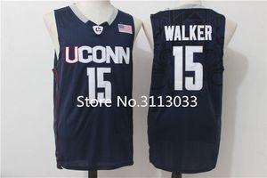 Kemba Walker UCONN лайки колледж баскетбол Джерси все размер вышивка сшитые XS-XXL жилет трикотажные изделия NCAA