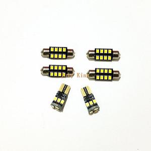الجملة 6 قطع الصمام سيارة أضواء القراءة الداخلية القضية لفورد إيدج 2011-18 ، 6000 كيلو 2835SMD ، 2 الجبهة + 3 الخلفية قبة + 1 الذيل ضوء مربع