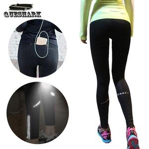 Women Back Zipper Pocket Reflective Running Pants Sport Yoga Tights Leggings Fitness Jogging Trousers Gym Slim Compression Pants T200326